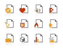 Dateitypen Ikonen Lizenzfreie Stockfotografie