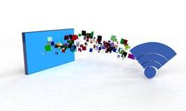 Datenübertragung, 3d Lizenzfreie Stockfotografie