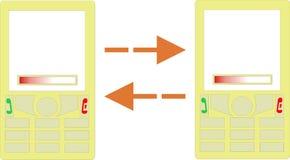 Datenübertragung zwischen Mobile Lizenzfreies Stockbild