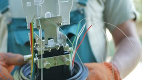 Datenübertragungsausstattung aus optischen Fasern Stockfotos