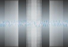 Daten-Algorithmen Analyse von Design Informationen Minimalistic Infographics Wissenschaft, Technologiehintergrund Vektor Stockbilder