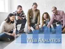 Daten-Analytik online überblickt Feedback-Konzept lizenzfreie stockfotos