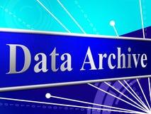 Daten archivieren darstellen Bytes Computer und Informationen Stockbilder