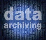 Daten-Archivierungs-Durchschnitt-Katalog-Katalog und Bytes Lizenzfreies Stockbild