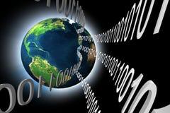 Daten der Erde 3d lizenzfreie abbildung