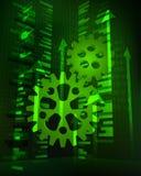 Daten des positiven Wachstums im Maschinerieindustrievektor Stockbild