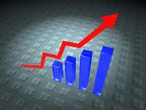 Daten-Diagramm stock abbildung