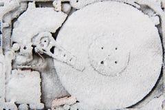 Daten (Festplattenlaufwerk im Schnee) Lizenzfreies Stockfoto