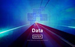 Daten-Informations-on-line-Speicher-Website-Konzept stockfotografie