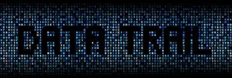 Daten schleppen Text auf Hexenillustration lizenzfreies stockfoto