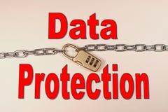 Daten-Schutz Stockfoto