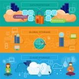 Daten-Schutz, globale Lagerung Stockbild