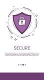 Daten-Schutz-Privatleben-Internet-Informations-Netzwerksicherheit stock abbildung