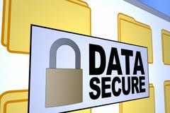 Daten sicher Lizenzfreie Stockfotografie