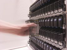 Daten-Speicher Stockfoto