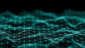 Daten-Technologie-Hintergrund entziehen Sie Hintergrund Verbindungspunkte und Linien auf dunklem Hintergrund Wiedergabe 3d 4K stock abbildung