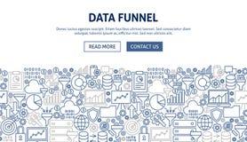 Daten-Trichter-Fahnen-Design Stockfoto