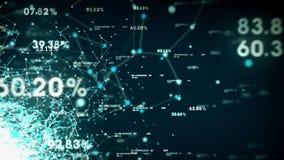 Daten und Netze blau stock video