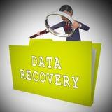 Daten-Wiederaufnahme-Software Bigdata, das Wiedergabe 3d wieder herstellt lizenzfreie abbildung