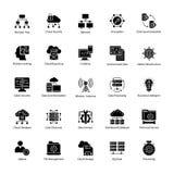 Daten-Wissenschafts-Vektor-Ikonen Lizenzfreies Stockfoto
