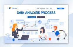 Datenanalyse-Agentur-Landungs-Seiten-Entwurf Moderne flache Entwurfsvektor-Illustrationskonzepte des Webseitenentwurfs f?r Websit stock abbildung