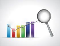 Datenanalyse-Geschäftsdiagramm-Illustrationsdesign Lizenzfreie Stockfotos