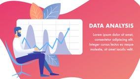 Datenanalyse, Prüfungs-Fahnen-Vektor-Schablone lizenzfreie abbildung