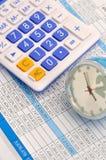 Datenanalyse und Zeitplan des Unternehmensplans Stockbild