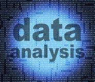 Datenanalyse zeigt Tatsachen-Tatsachen an und analysiert Stockbilder