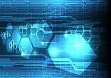 Datenanalysehintergrund des Stroms zukünftiger, futuristisches communic stockfoto