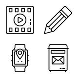 Datenaustausch-Vektor-Ikonen verpacken lizenzfreie abbildung