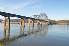 Datenbahn-Brücke lizenzfreie stockfotos