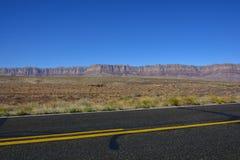 Datenbahn in der Arizona-Wüste stockfoto