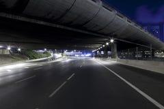 Datenbahn nachts Stockbilder