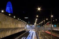 Datenbahn nachts Stockfotos