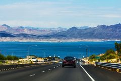 Datenbahn in Nevada Stockfoto
