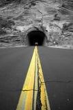 Datenbahn-Tunnel Stockbild
