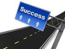 Datenbahn zum Erfolg stock abbildung