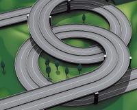 Datenbahnautobahnverzweigung Lizenzfreies Stockfoto