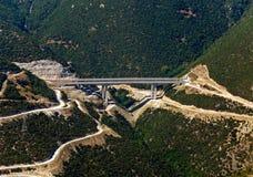 Datenbahnbrücke, von der Luft Stockbild