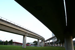 Datenbahnbrücken Stockbilder