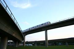 Datenbahnbrücken Lizenzfreies Stockfoto