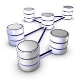 Datenbank-Netz Lizenzfreies Stockbild