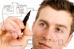 Datenbank- Plan Lizenzfreie Stockfotos
