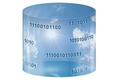 Datenbank- Speicher u. Wolkendatenverarbeitung lizenzfreie abbildung