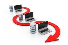 Datenbanknetz lizenzfreie abbildung