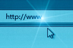 Datenbanksuchroutine im Internet zu einer Web site stockfoto