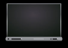 Datenbanksuchroutine-Video-Playerschwarzhintergrund Lizenzfreie Stockfotos