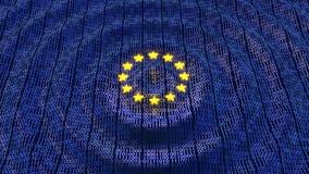 Datenbits- und Bytewellenkräuselungen EU GDPR Lizenzfreie Stockfotos
