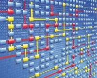 Datenfluss Stockfoto